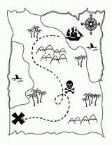 Coloring Map Printable Pirate Treasure Activity Popular sketch template