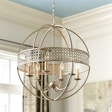 ballard designs lighting marais 6 light orb chandelier