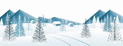 Winter Clipart Ground Snow Trees Transparent Clip