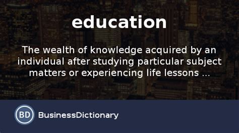 education definition  meaning