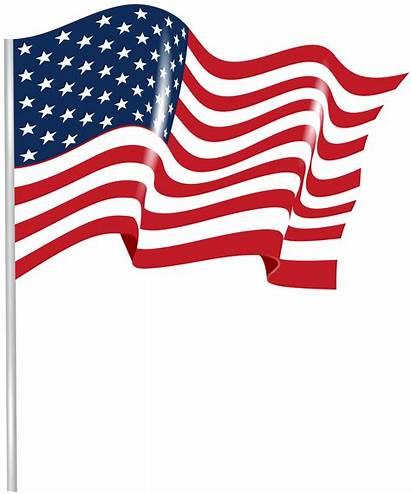 Flag Transparent Waving Clip Clipart Usa United