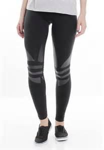Black Adidas Trefoil Logo Leggings