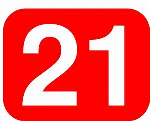 Red Rounded Rectangle With Number 21 Clip Art at Clker.com ...
