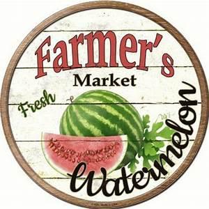 "12"" Farmer's Market Watermelon Sign"