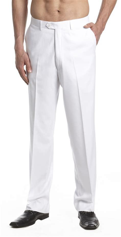 CONCITOR Men's Dress Pants Trousers Flat Front Slacks