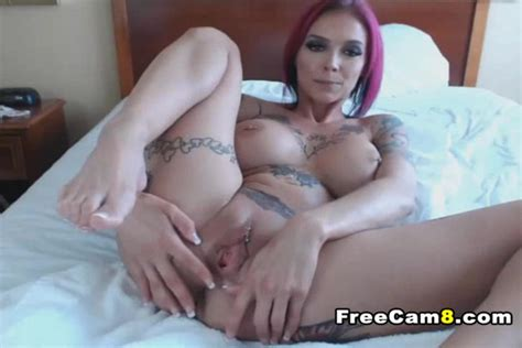 Busty Inked MILF Gets Her Pussy Squirt
