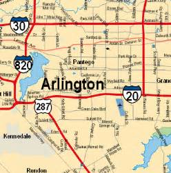 Texas Map Arlington TX