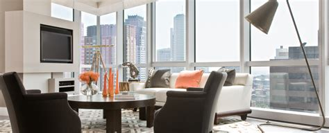 The Living Room Boston Parking by W Boston Residences Boston S Luxury Properties