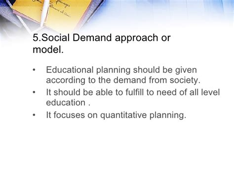 approaches  educational planning