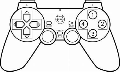 Controller Coloring Games Xbox Pages Drawing Control