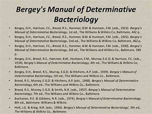 Bergey U0026 39 S Manual Of Systematic Bacteriology