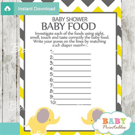 Nautical Theme Baby Shower Invitations by Yellow Elephant Baby Shower Games Bundle D104 Baby