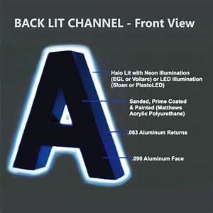 back lit channel letter signs back lit channel letters With lit channel letters