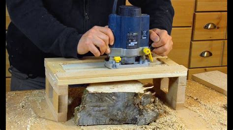simple router planer jig woodworking   youtube