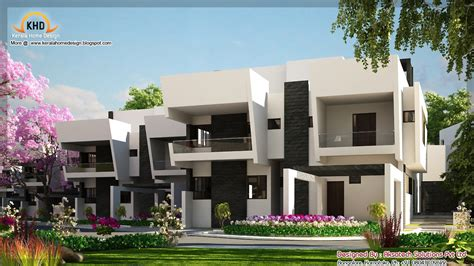 modern contemporary floor plans 2 beautiful modern contemporary home elevations kerala