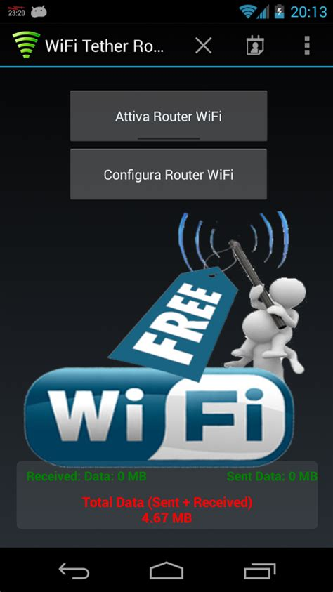 android wifi tether wifi tether router 6 usare il tuo smartphone come modem