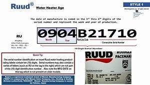 Ruud Water Heater Age