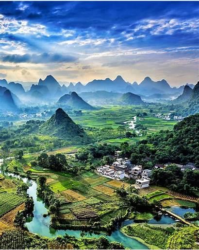 Nature Vertical China Yangshuo Landscape Amazing Travel