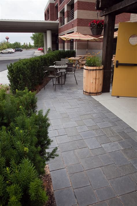 unilock michigan unilock richcliff pavers installed at a restaurant in