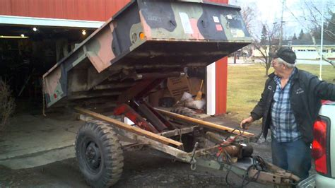 military trailer cer army trailer turned into a dump trailer youtube