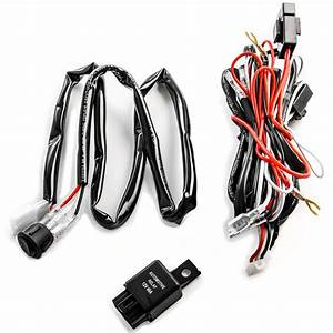 40a 12v Work Fog Light Led Bar Wiring Harness Relay Kit On