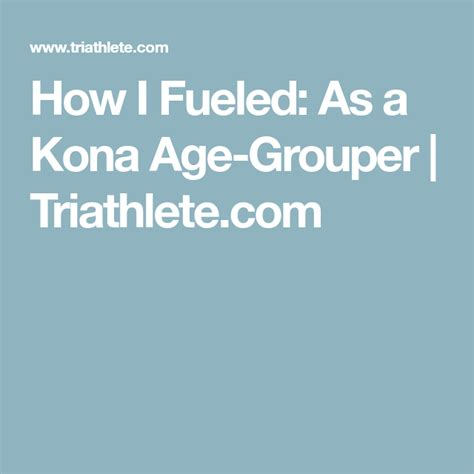 triathlete kona grouper age fueled powerful most become version rsci link app