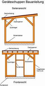 Bauplan Gartenhaus Pultdach : ger teschuppen bauanleitung mit bauplan ~ Orissabook.com Haus und Dekorationen