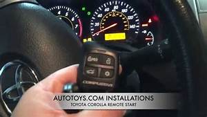 Toyota Corolla Remote Start Installation And Demostration
