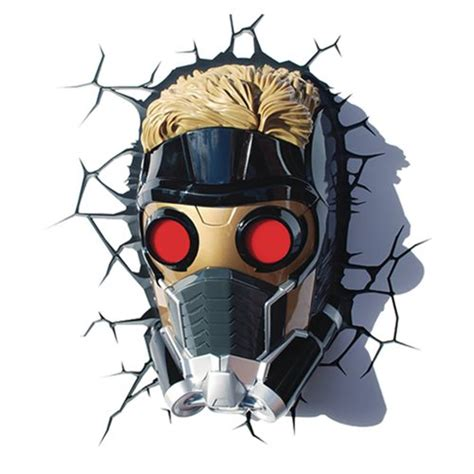 Guardians Of The Galaxy Starlord Mask 3d Light 3d