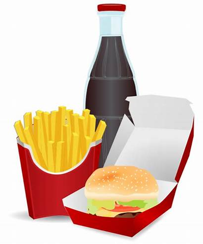 Clipart Fast Hamburger Meal Takeaway Fries Clip