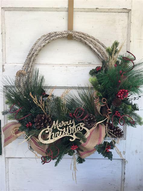 rustic wreaths gypsyfarmgirl new rustic rope christmas wreaths