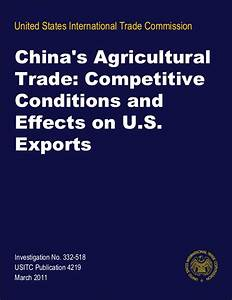 Dr Dev Kambhampati | USITC- China's Agricultural Trade ...