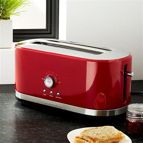 kitchenaid  slice long slot toaster red crate  barrel
