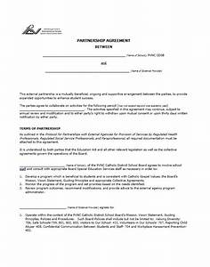 40 free partnership agreement templates business general With corporate partnership agreement template