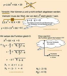 Quadratische Funktionen Nullstellen Berechnen Aufgaben Mit Lösungen : pq formel aufgaben mit schritt f r schritt l sungen pq formel mathematik 9 klasse ~ Themetempest.com Abrechnung