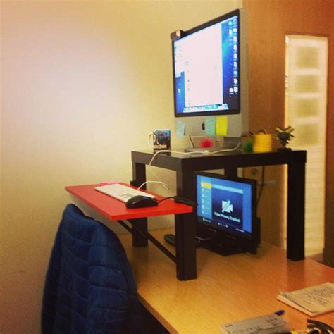 build a standing desk build your own stand up desk from recycled wood homesfeed