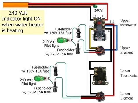 Electric Water Heater Diagram by Electric Water Heater Wiring Diagram For 240v Wiring Forums