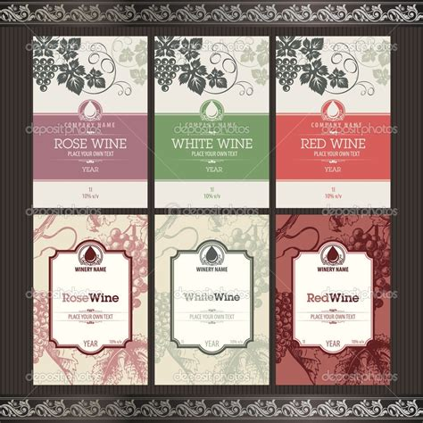 Wine Label Template Wine Label Template Word Www Imgkid The Image Kid