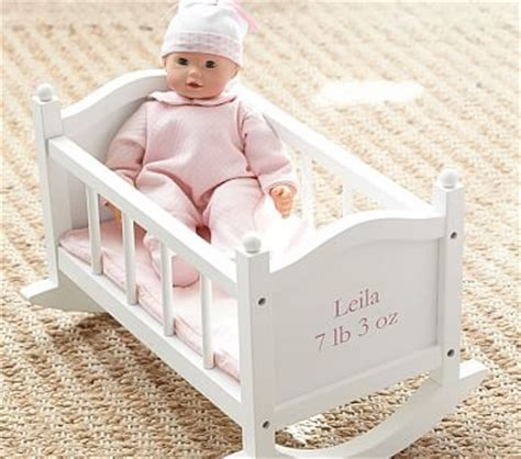 baby doll cradle pottery barn kids