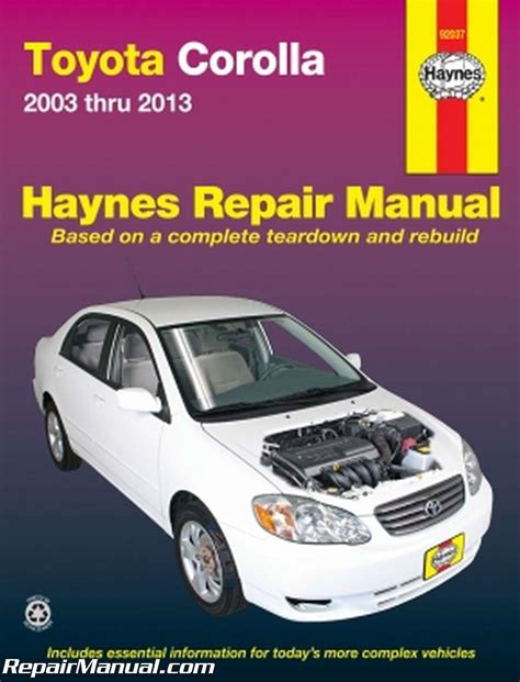 free online auto service manuals 2004 chevrolet venture electronic valve timing haynes toyota corolla 2003 2013 auto repair manual