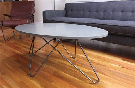 oval concrete coffee table oval concrete and steel coffee table modern coffee tables