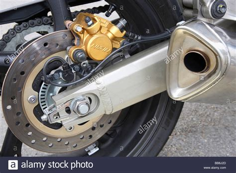 Abs Brakes On The Rear Wheel Of A Honda Hornet Motorcycle