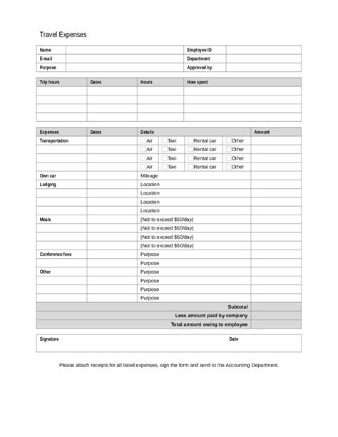 2018 Expense Report Form  Fillable, Printable Pdf & Forms