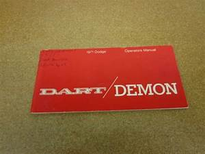 Original 1971 71 Dodge Dart Demon Owners Manual Literature