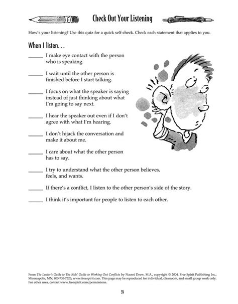 listening skills worksheets free worksheets library