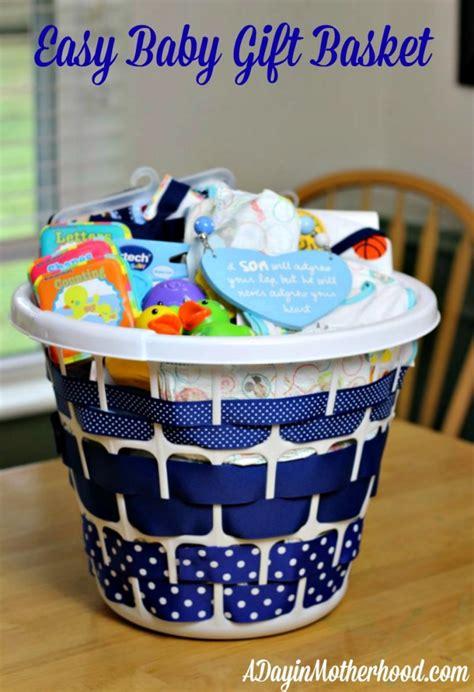 Baby Shower Gift Ideas - easy baby gift basket