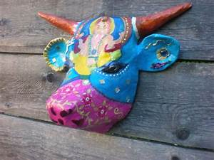 Tete De Vache Deco : t te de vache papier mach animaux d co murale bollywood le blog de toutenpapier ~ Melissatoandfro.com Idées de Décoration