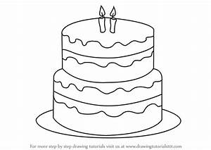 Learn How to Draw a Birthday Cake (Cakes) Step by Step ...