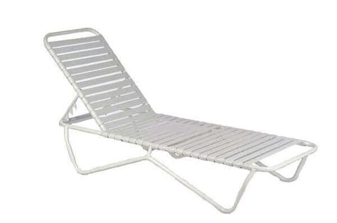 Quick Ship St. Lucia Vinyl Strap Chaise Lounge