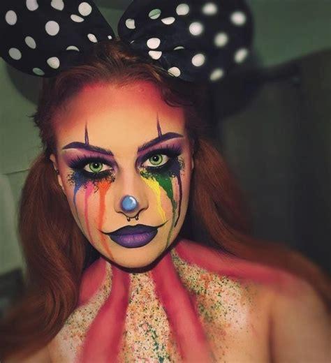 rainbow clown makeup  kind  clown makeup youd possibly     halloween